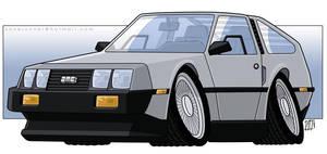 DeLorean DMC-12 CARicature