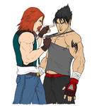 Hwoarang and Jin