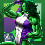 She-Hulk by DHK88
