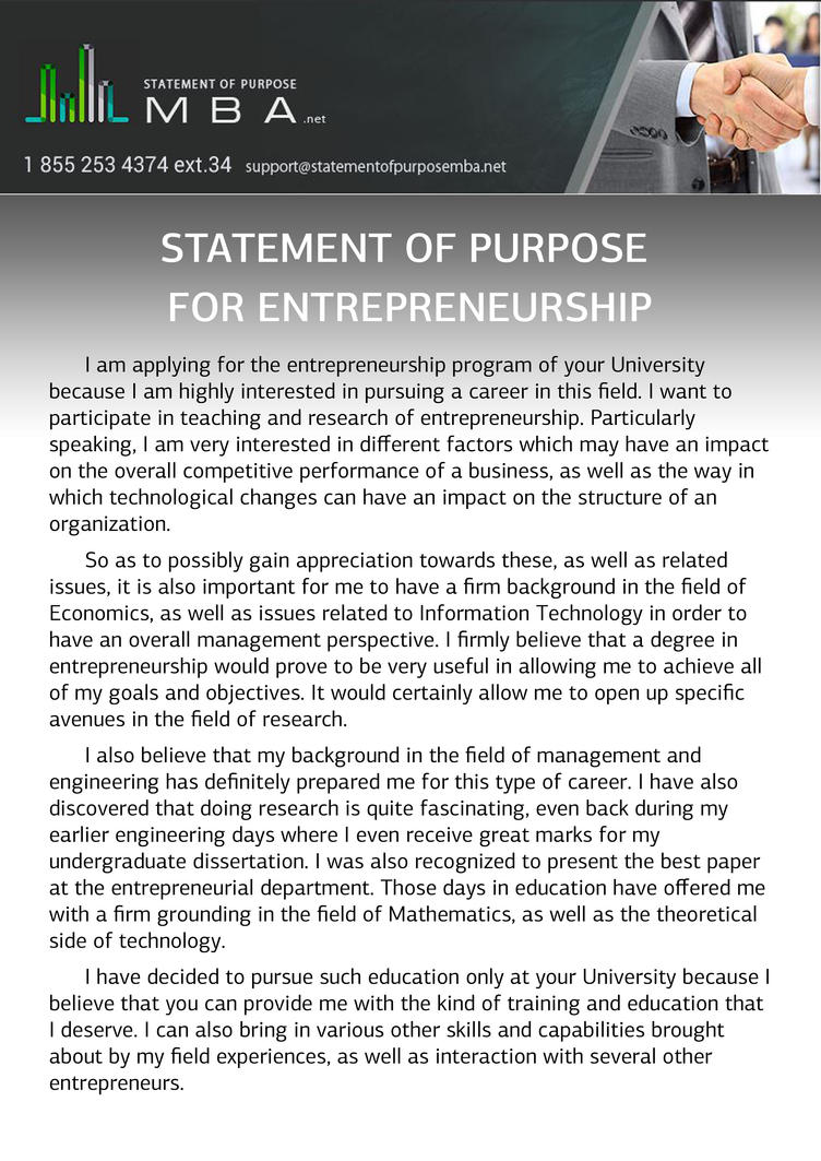 Mba statement of intent
