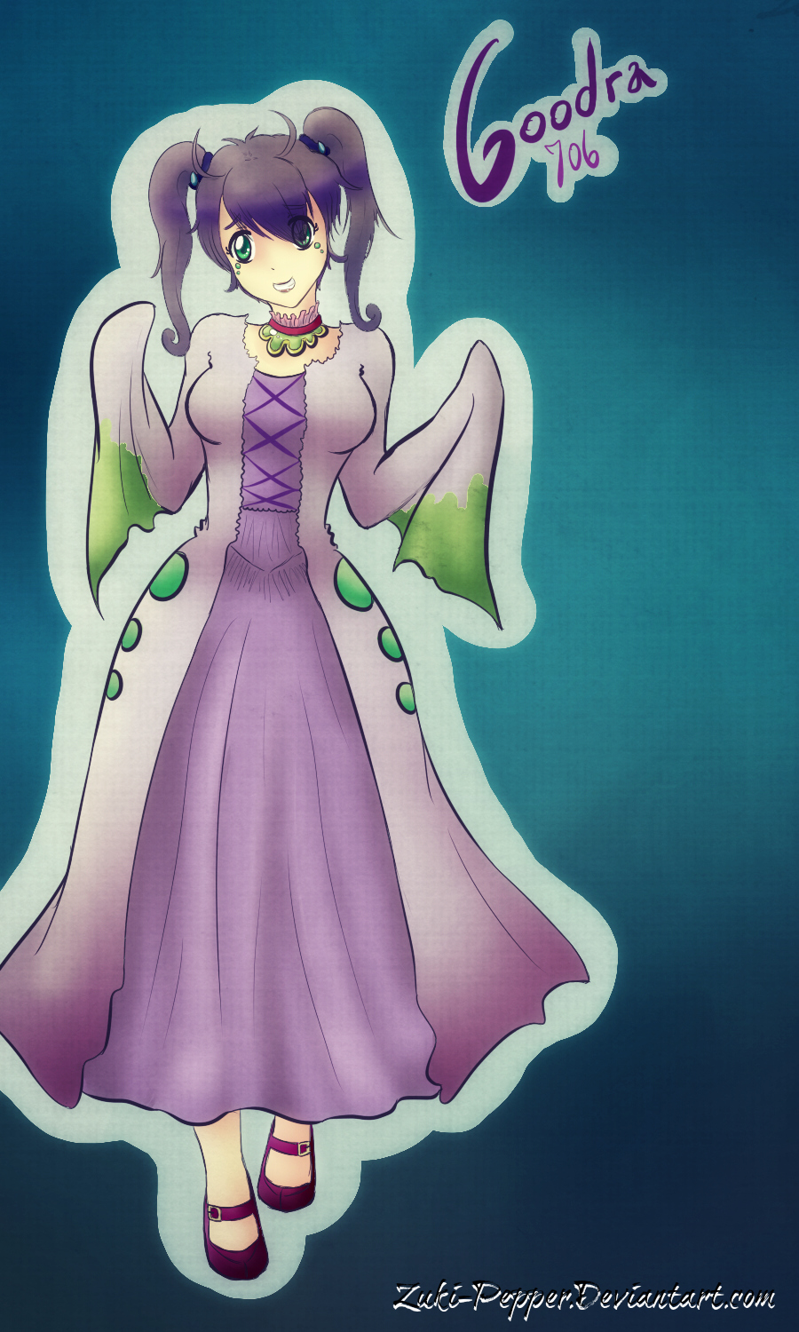pkmn gijinka goodra lichi by zukipepper on deviantart