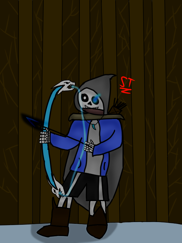 Sans as a ranger- by AfterfellChara