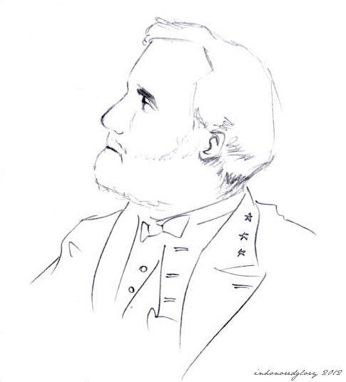 robert e lee coloring page - easy to draw general robert e lee sketch coloring page
