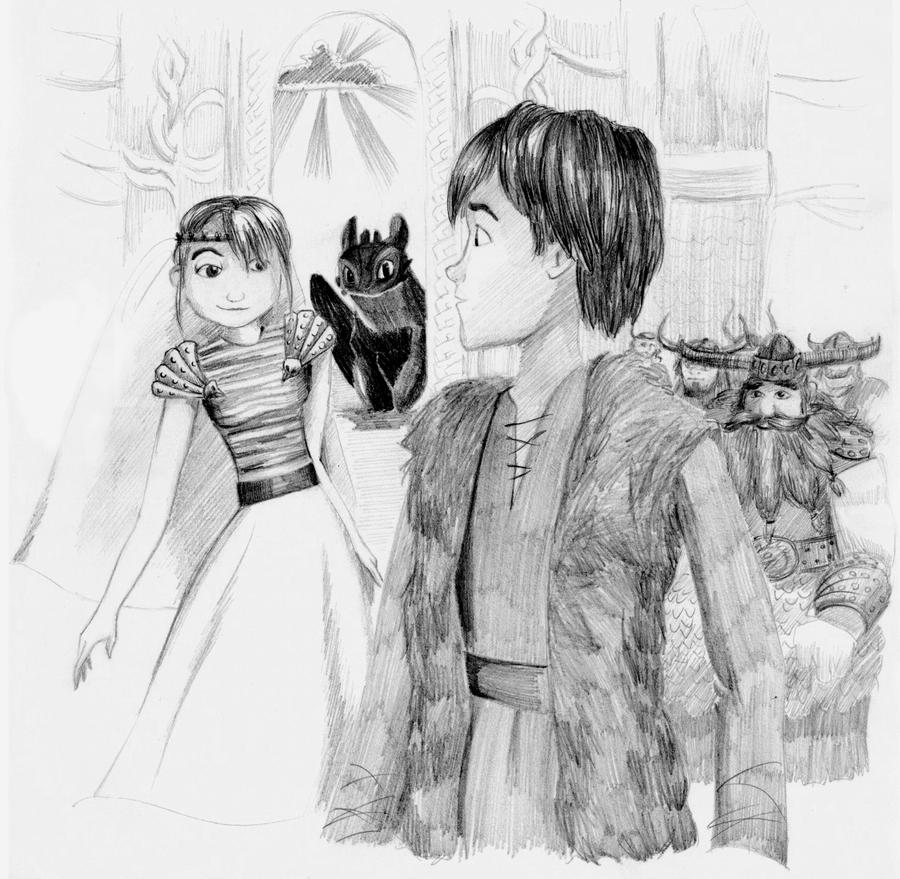 The Wedding: Astrid And Hiccup By Inhonoredglory