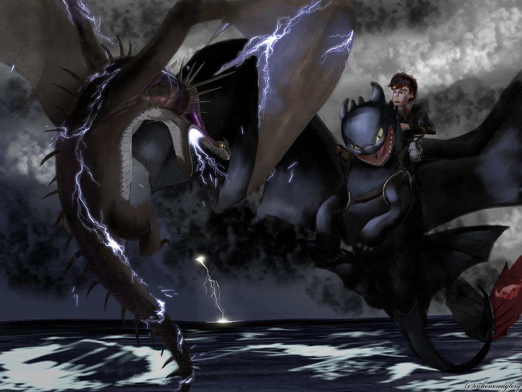 The Night Fury vs the Skrill (HTTYD2 webnovel ch2) by inhonoredglory
