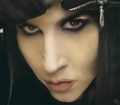 Marilyn Manson Digital Paint by RayrayDesigns