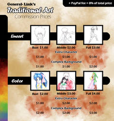 Traditional commission sheet by General-Link