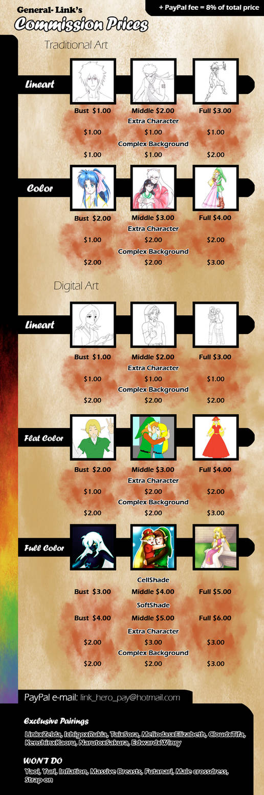 Commission prices by General-Link