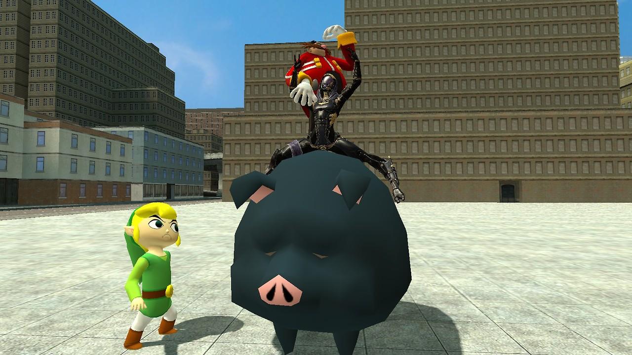 GMod: Ride the pig!