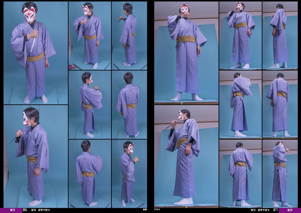 Kimono, Dagger, Fox Mask [Stock Pack] by boyspose