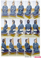 Kimono, Sit, Put hands into the sleeves by boyspose