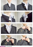 School Uniform For Boys 02 Stand collar,Neck by boyspose