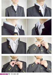 School Uniform For Boys 02 Stand collar,Neck