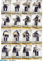 School Uniform For Boys 04 Sit Low-Angle by boyspose