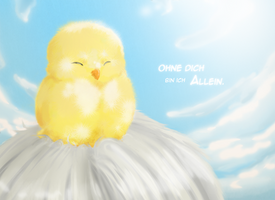 Without Gilbird he's alone by neonspider
