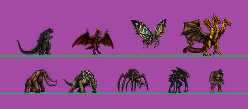 kaiju sprite : King of the Monsters's Titanus