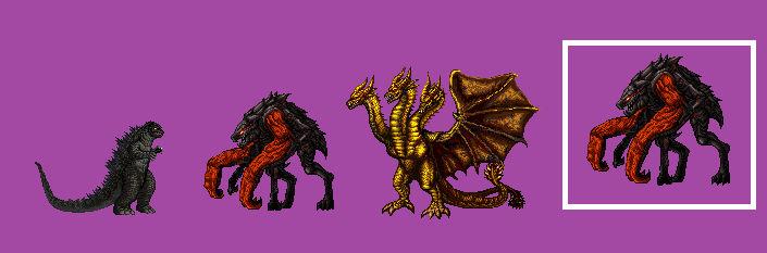 kaiju : Muto Prime, and Ghidorah remake sprite