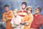 Tiny Beach Boys painting
