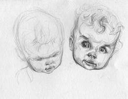 Iris Head Studies by ChloeC