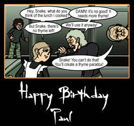 Happy Birthday, Paul Eiding by LordQuadros