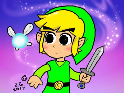 Toon Link and Navi  by YoshiStarGalaxy14