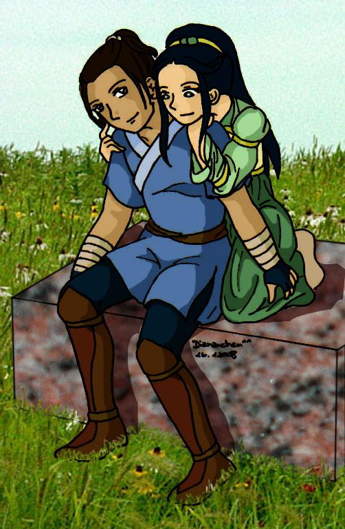 Sokka and Toph by Mikha