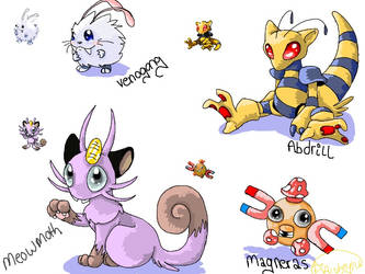 Pokemon Fusions by Aisheyru-Fox