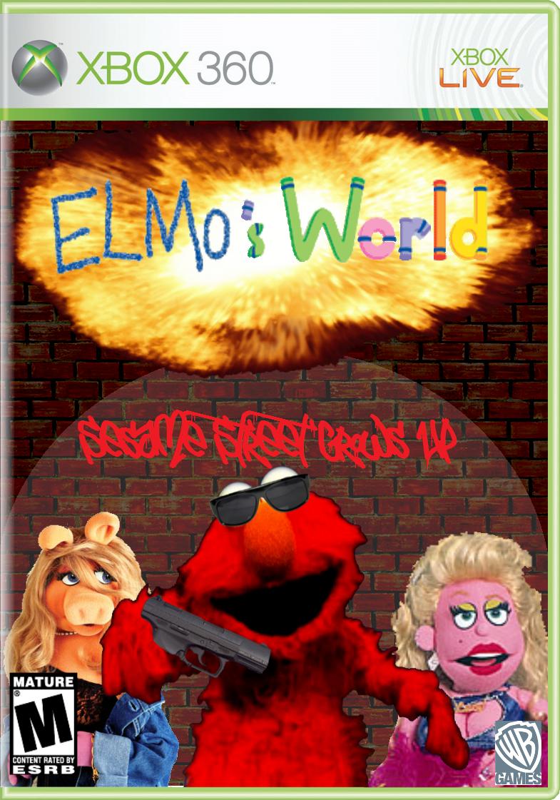 Evil Elmo With Gun Elm...