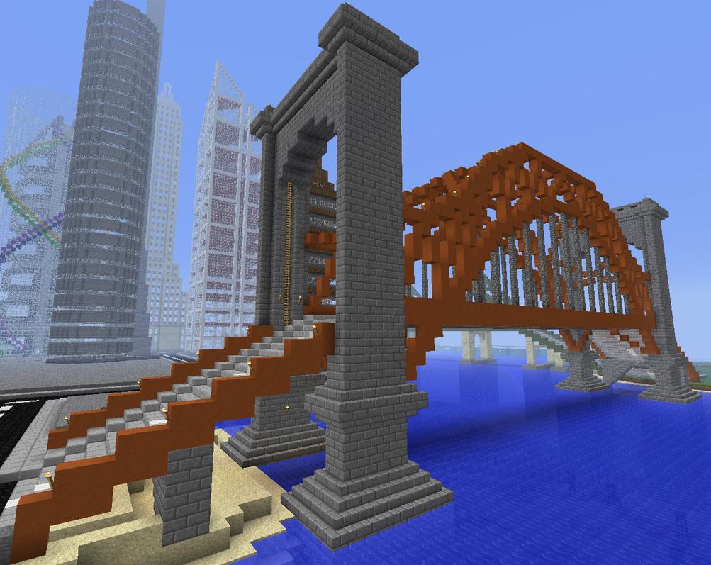minecraft gate. Hell Gate Bridge In Minecraft By Mountaindude246