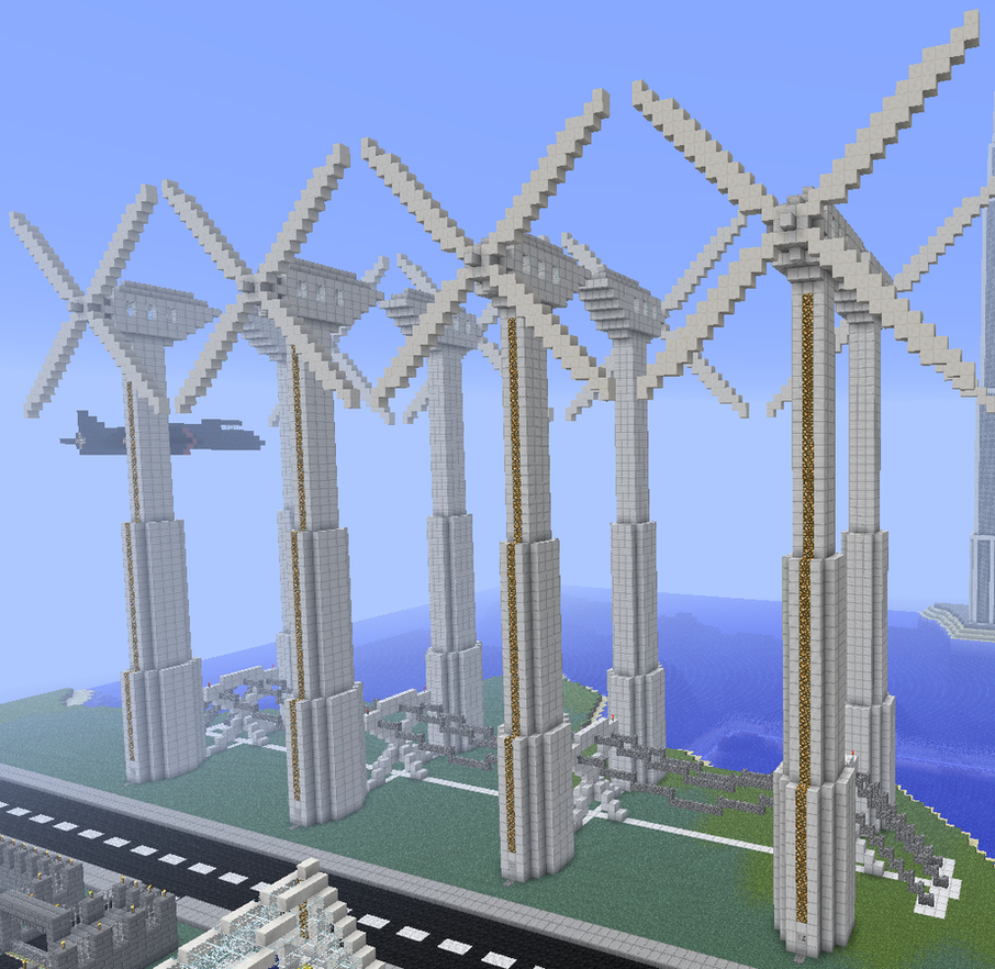 modern windmills in minecraft by mountaindude246 on deviantart