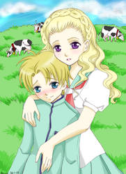 Nanami and Tsuwabuki by Hyaene