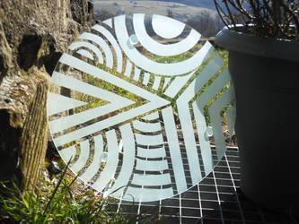 Glass Trivet by reflet-de-lyly