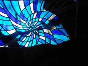 Spiral of blue