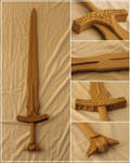 Unpainted Skyrim Steel Sword