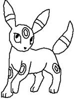 Umbreon Line Art by Harry-Potter-Addict