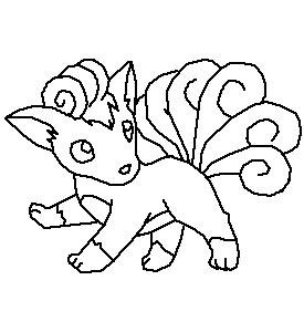 Vulpix line art by harry potter addict on deviantart for Vulpix coloring pages