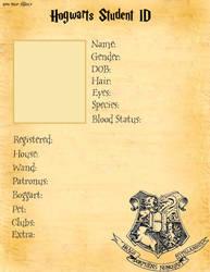 Hogwarts Student ID base. by Harry-Potter-Addict