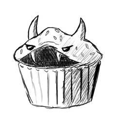 Evil Cupcake by AdeptOmega