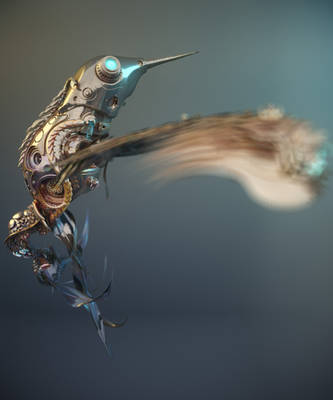 Steampunk - Hummingbird by sanfranguy