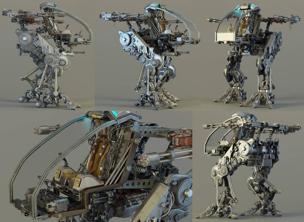 Mech Prototype - Exposed