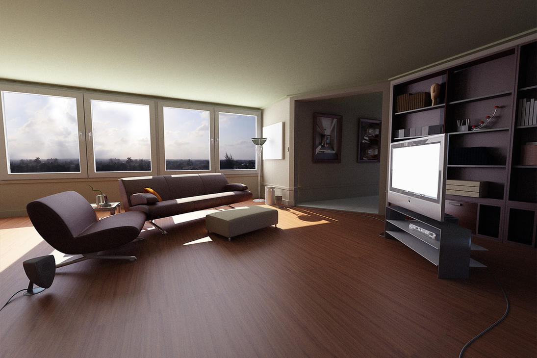A vray day by sanfranguy on deviantart for Espejo 3d max vray