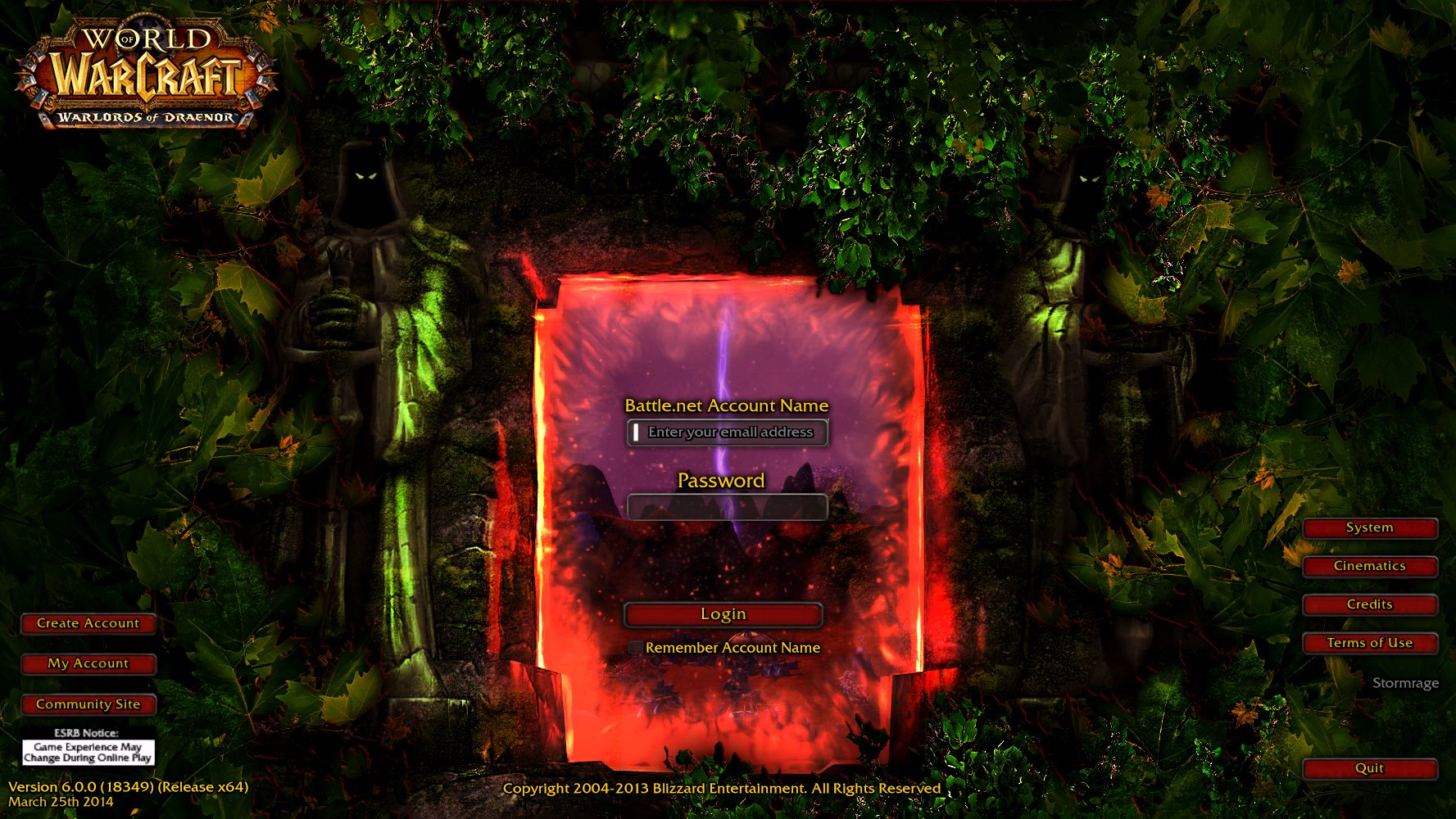 Jungle Wallpaper World Of Warcraft: Warlords Of Draenor Login Screen *Updated* By Arthzull On