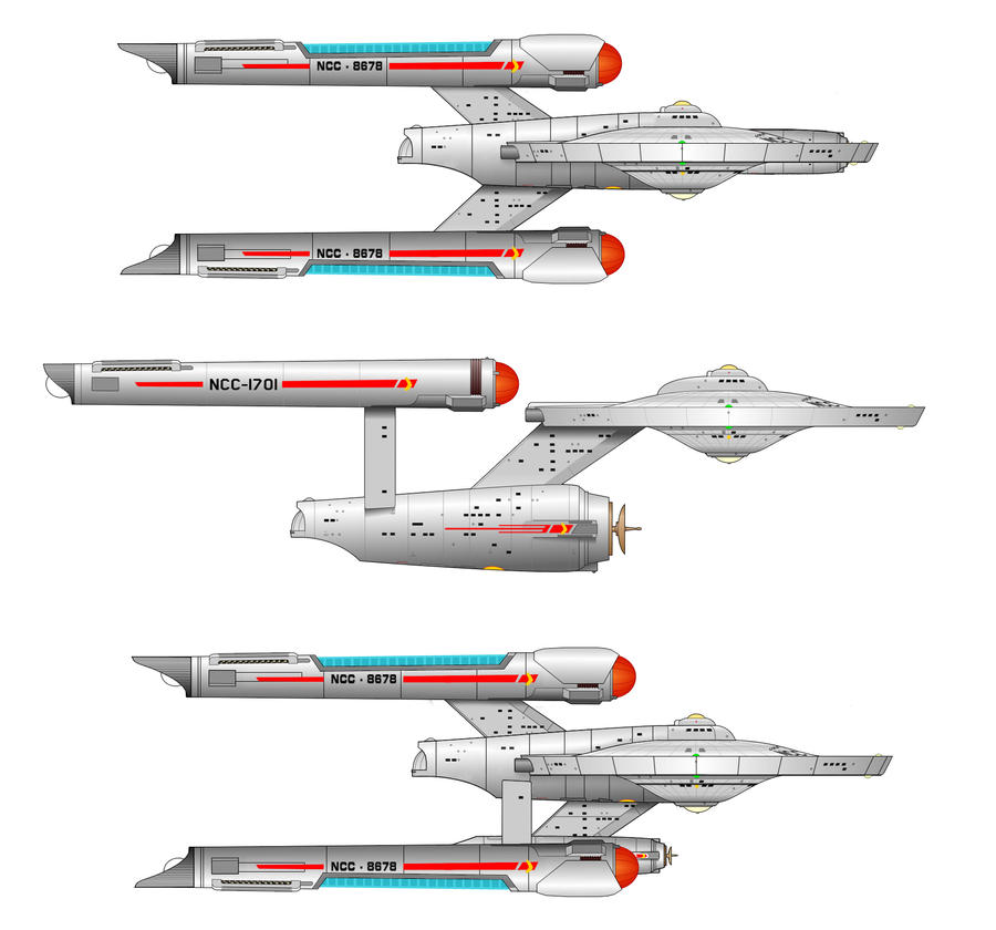 Concept Star Trek TOS ships by AKSuperman on DeviantArt
