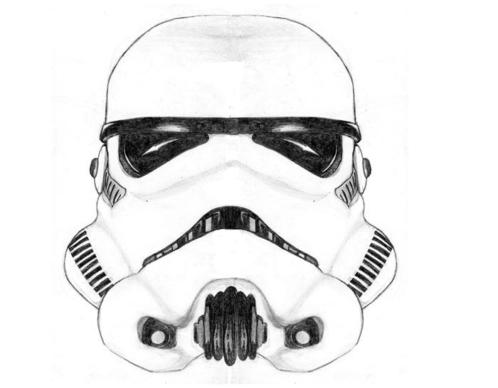 Stormtrooper Helmet Draw Coloring Pages
