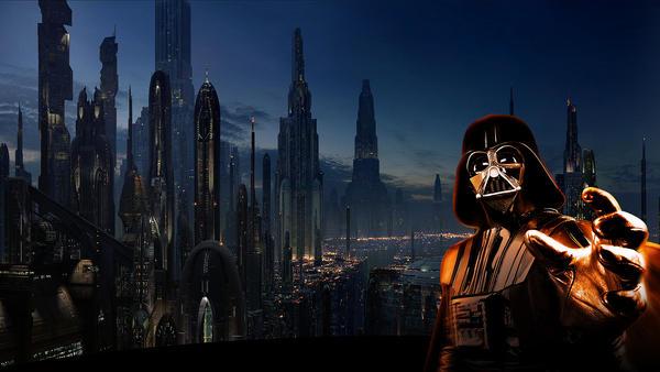 Coruscant Vader HD by RiddleMeThisJoker