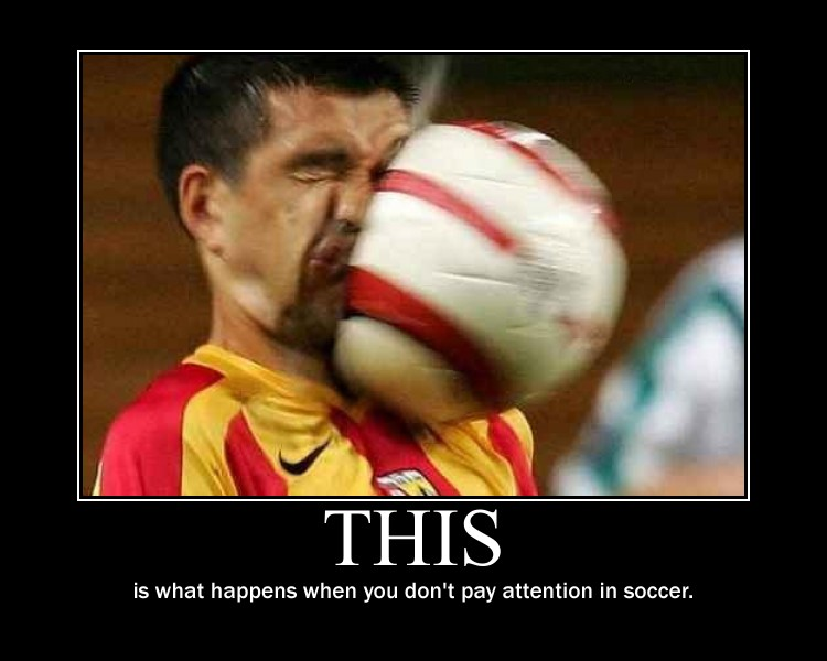Image result for pay attention soccer funny