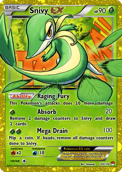 Go back gt gallery for gt snivy ex pokemon card