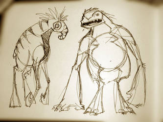 Sketchbook Dump: Two Critters by RougeSpark