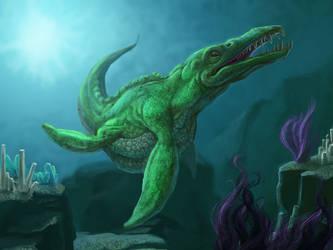 Its a Liopleurodon, Charlie by RougeSpark