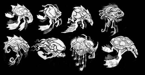 Blimp Creature Concepts mk1 by RougeSpark